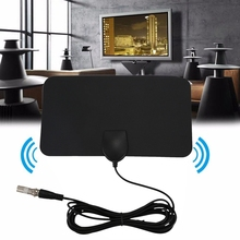 Flat HD Digital Indoor Zoom TV Antenna HDTV 50 Mile Range TVFox VHF UHF DVB