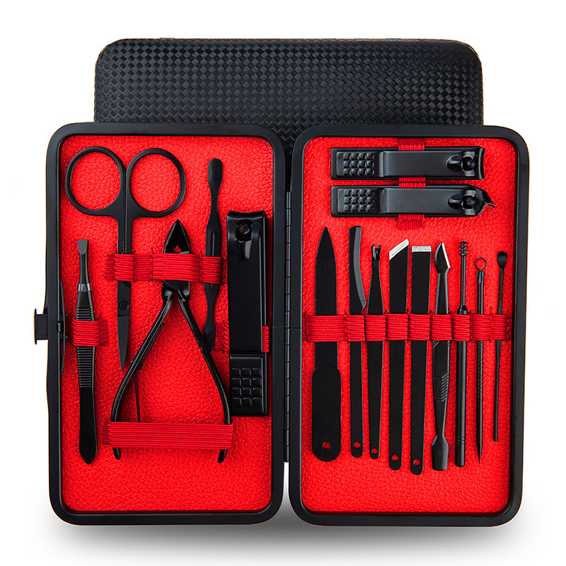 16pcs Nail Clipper Set Stainless Steel Professional Manicure Pedicure Grooming Kit Nail Scissors Tools with Case|Sets & Kits|   - AliExpress