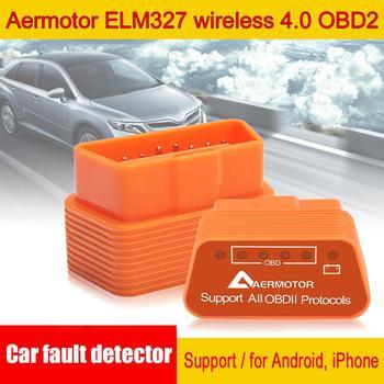 Gorący Aermotor ELM327 WIFI OBD2 wsparcie Android detektor usterek samochodowych nadaje się do androida i Apple hurtownia szybka dostawa CSV