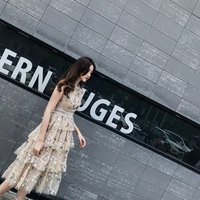New Embroidery designer brand heavy embroidery bead piece nets yarn quality dress party dress