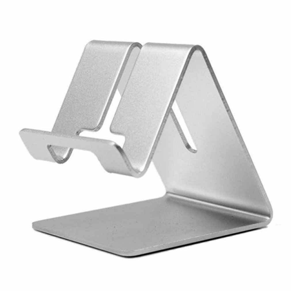 Universal Metal Mobile Phone Desktop Holder Hardware Mobile Phone Bracket Flat Holder Aluminum Alloy Mobile Phone Holder