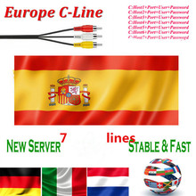 Europe HD cable 1 Year CCCam for Satellite tv Receiver 7 Clines WIFI FULL HD DVB-S2 Support Spain/French cline ccam iks Server