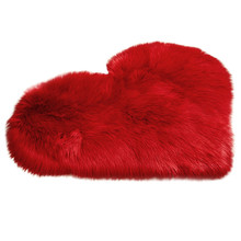 Горячая шерсть имитация ковры из овчины искусственного меха нескользящие для спальни, ворсистый ковер гостиная коврики круглый коврик# T2