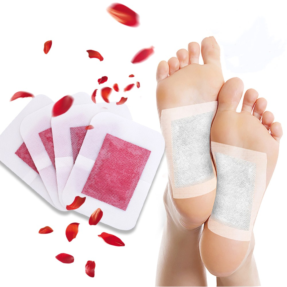 KONGDY Foot Care Patch 4 Pieces Body Toxins Pads Improve Sleep Rose Essential Oil Patch Feet Slimming Cleansing Herbal Adhesive