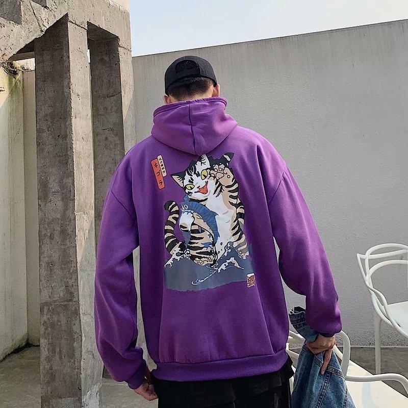 2020 Fashion Men Cool Men Hip Hop Hoodies Japanese Casual Sweatshirts Streetwear Men Women Loose Pullover Hoodie Male