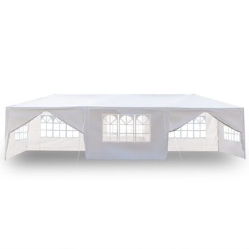 Toldo Gazebo toldo para exteriores toldo con tubos espirales Color blanco Anti UV