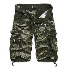 Pantalones cortos militares de camuflaje para Hombre, pantalón Corto informal suelto de talla grande, táctico, novedad de verano de 2019