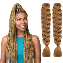 Braiding-Hair Pink-Color Wholesale Synthetic-Hair Pre-Stretched Natifah 165g 82inch Ombre