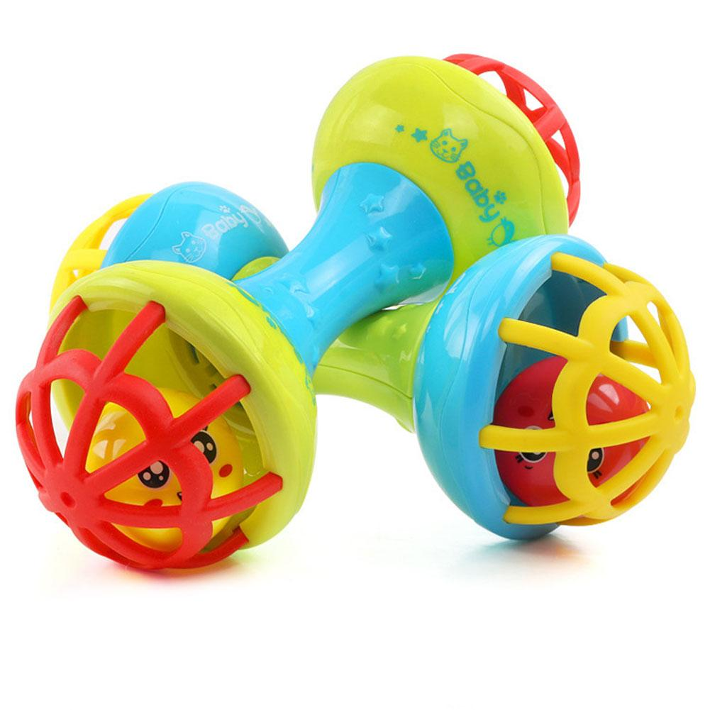 Baby Teether Toys Multicolor Baby Teether Rattle Toy Grasping Gums Hand Bell Educational Gift Rattle Toy