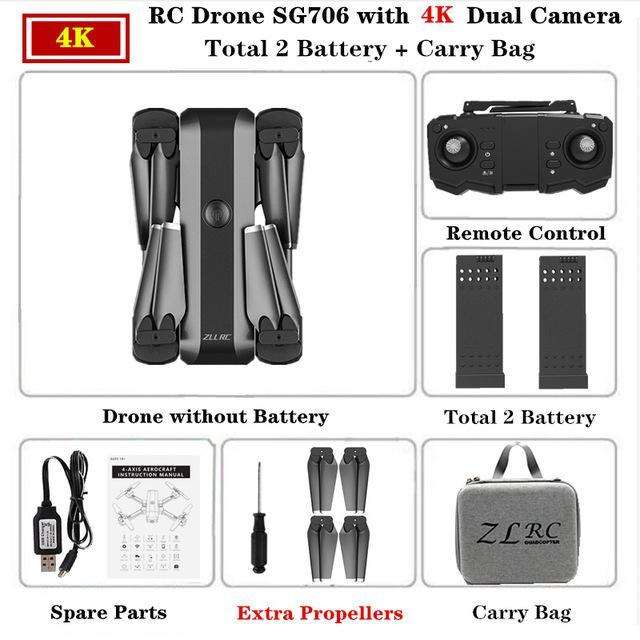 SG706 4K Carry Bag 2 batteries