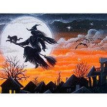 Diy картина по номерам на Хэллоуин комплект маслом 40x50 см