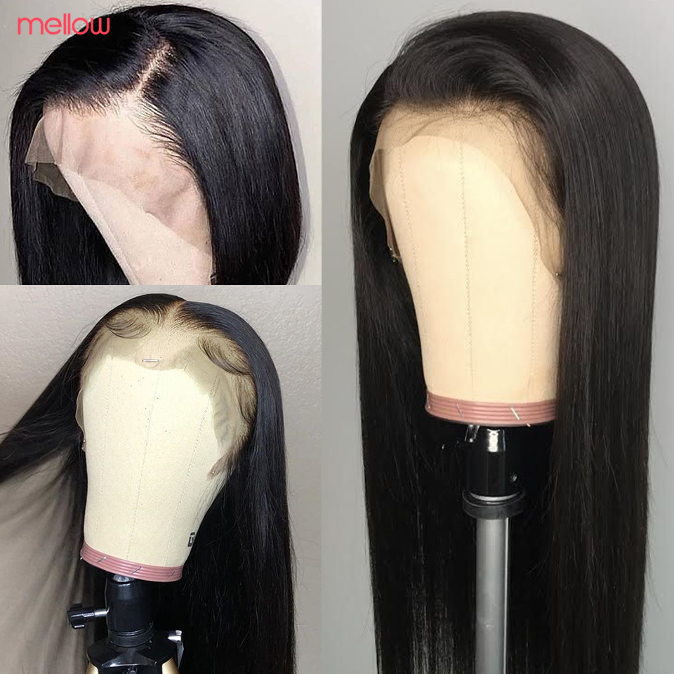 Brazilian Straight Lace Front Wig 100% Human Hair Wig 13*4 Straight Hair Wig Remy For Black Women Pre Plucked With Baby Hair