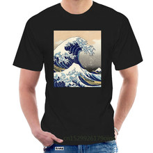 Custom Shirts Online Men'S The Great Wave Off Kanagawa Graphic Crew Neck Short Sleeve Tees @061660