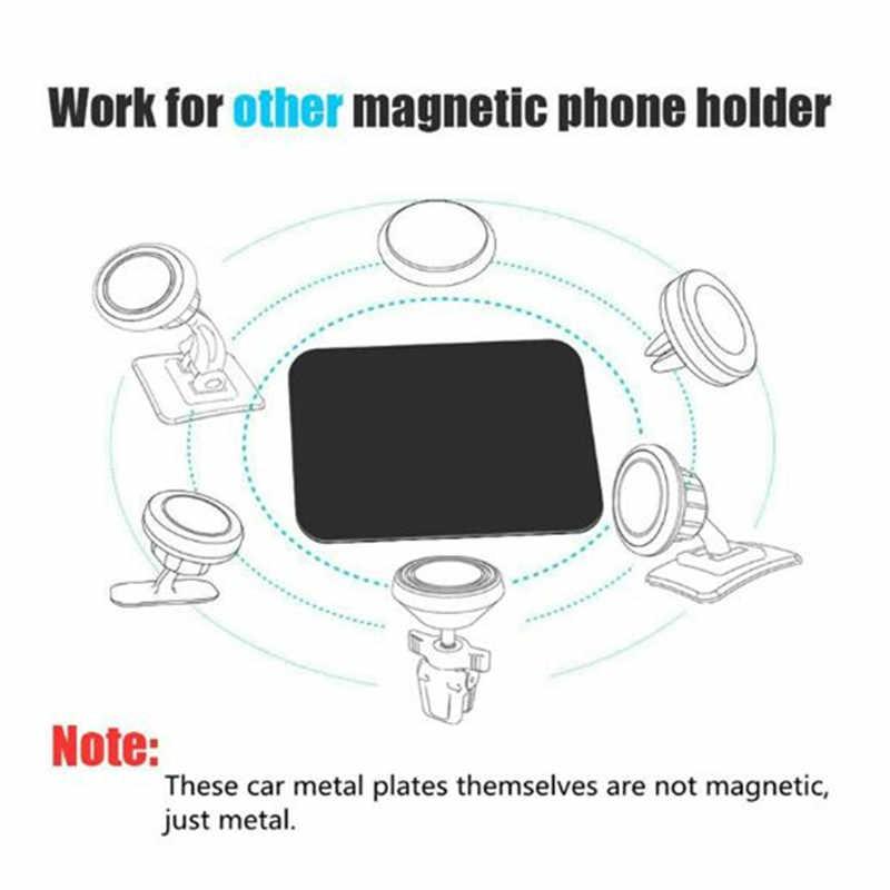 Evrensel ince Metal plaka Disk manyetik cep araba telefon tutucu evrensel mıknatıslı araba montaj standı sac demir etiket