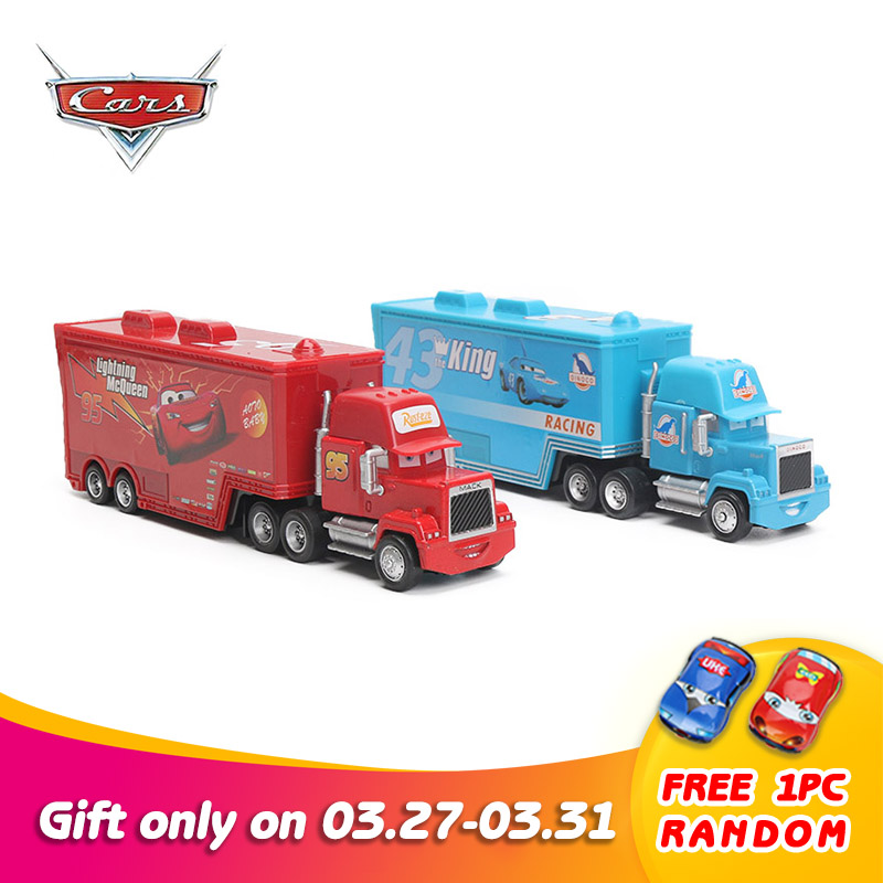 4-21cm Disney Pixar Cars 2 Toys Lightning McQueen Mack Uncle TruckThe King Chick Hicks 1:55 Diecast Car Model Toy Kids Boy Gift