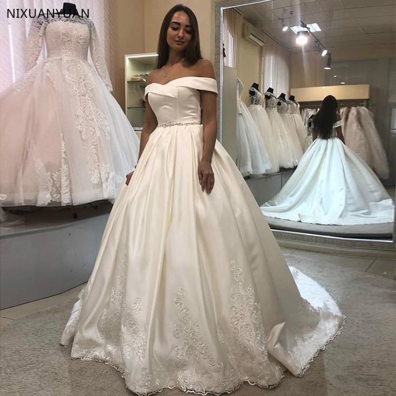 Princess Ball Gown Wedding Dress Off Shoulder