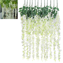12pcs/lot Artificial Wisteria Silk Flower for Holiday Decoration Weddings & Even