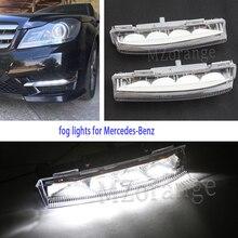 Светодиодный дневные ходовые огни для Mercedes-Benz W204 S204 W212 R172 C250 2007-2014 дневные ходовые огни светильник головной светильник светодиодный фонарь ...