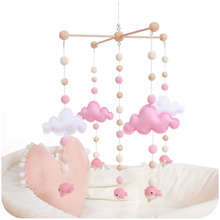 Baby Mobile Hanging Rattles Toys Wind-up Music Box Hanger DIY Hanging Baby Crib Mobile Bed Bell Wood Toy Holder Arm Bracket baby rattles bracket set diy hanging baby crib mobile bed bell toy rotary holder arm bracket with clockwork movement music box