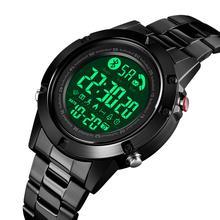 SKMEI Smart Fashion Sports Watch Men Motion Track Endurance Ability Life Waterproof No Charge Bluetooth reloj hombre 1500