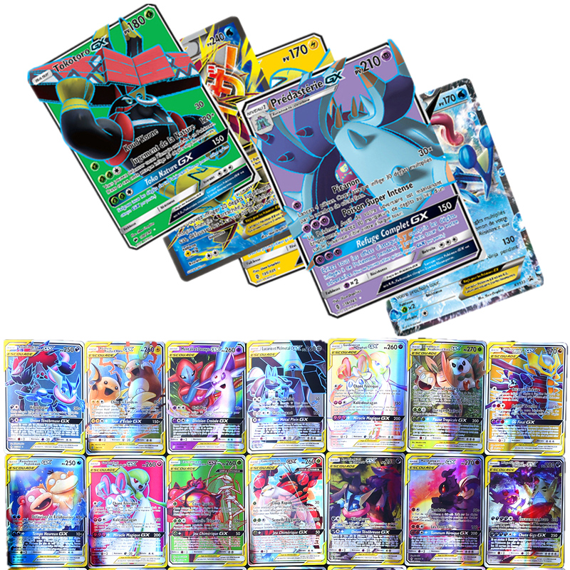 Pokemon GX MEGA Shining French Cards Game Battle English Carte Trading Cards Game Children Pokemons Toy