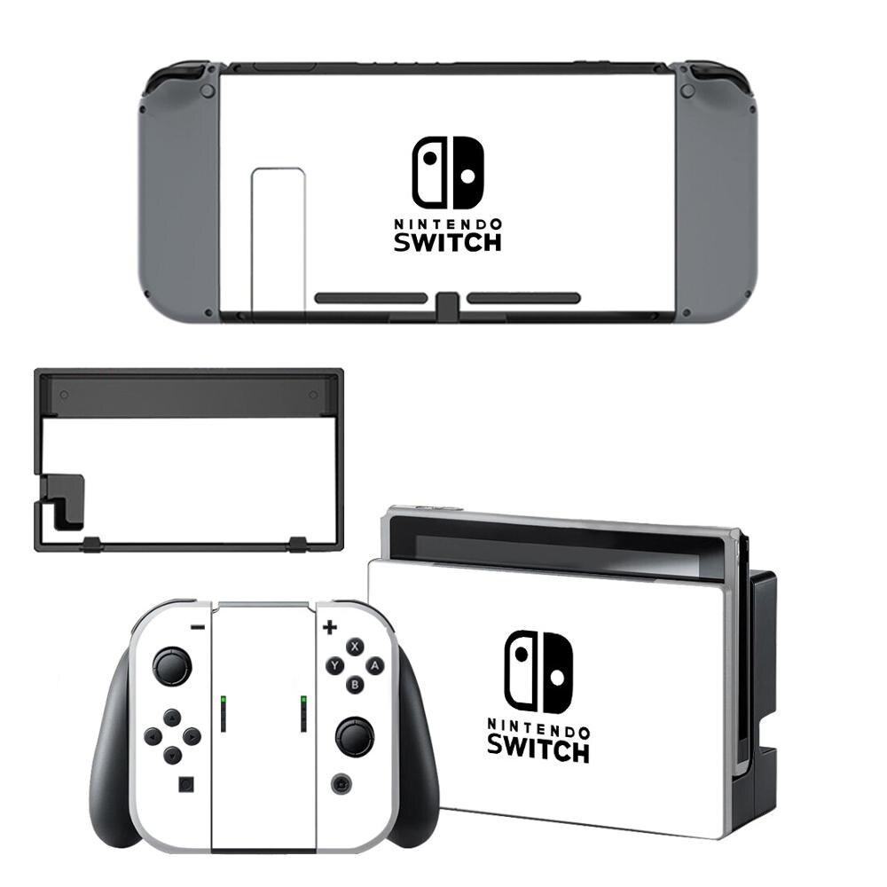 Pure White Color Nintendo Switch Skin Sticker NintendoSwitch Stickers Skins For Nintend Switch Console And Joy-Con Controller