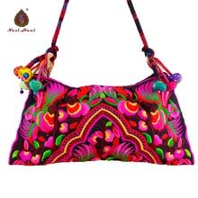 National cotton Cloth embroidered bags canvas women handbag Shoulder crossbody bags Travel bags