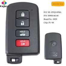 KEYECU akıllı uzaktan araba anahtarı 4 düğme ile P1 = 88 çip FOB Toyota Avalon Camry hibrid Corolla LE SE XSE XLE FCC ID: HYQ14FBA