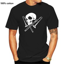 comfortable Brand Men Fashion Skull And Trombone 3D Printed Tee Shirts MenHigh Quality Short Sleeve Tops