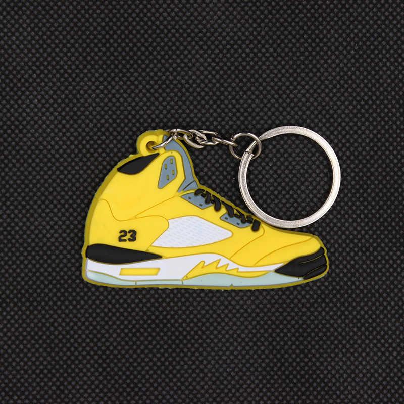 2019 Mini llavero con colgante para hombres y mujeres zapatillas coloridas llavero zapatos de baloncesto llavero