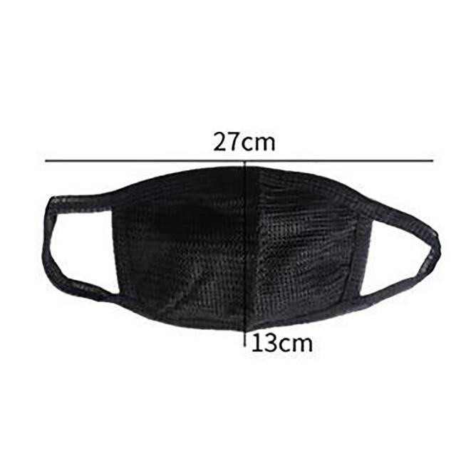 * Cotton PM2.5 Black mouth Mask anti dust mask Activated carbon filter Windproof Mouth-muffle bacteria proof Flu Face masks Care 3