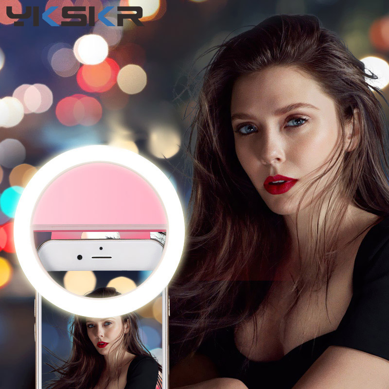 Universal New USB Charge Selfie Portable Flash Led Camera Phone Photography Ring Light Enhancing Photography for iPhone micro C