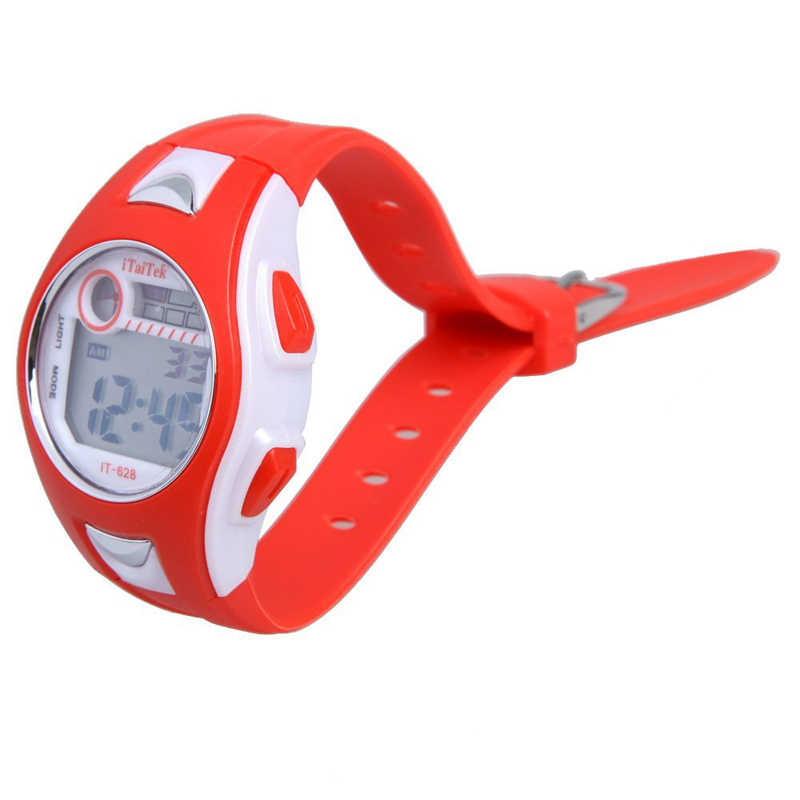 Tahan Air Anak-anak Laki-laki Gadis Olahraga Renang Digital Jam Tangan Tahan Air Anak-anak Baru Alarm Date Watch Hadiah Tahun Baru Natal Q