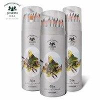 24 36 48 crayon de couleur professionnel Soluble dans l'eau lapis de cor ensemble de crayons d'aquarelle à noyau souple de qualité supérieure pour enfants d'art