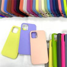 Official Original Silicone Case For iPhone 11 12 Pro MAX SE 2020 XR X 6 6s 7 8 Plus Liquid Case For iPhone 12 mini XS Full Cover