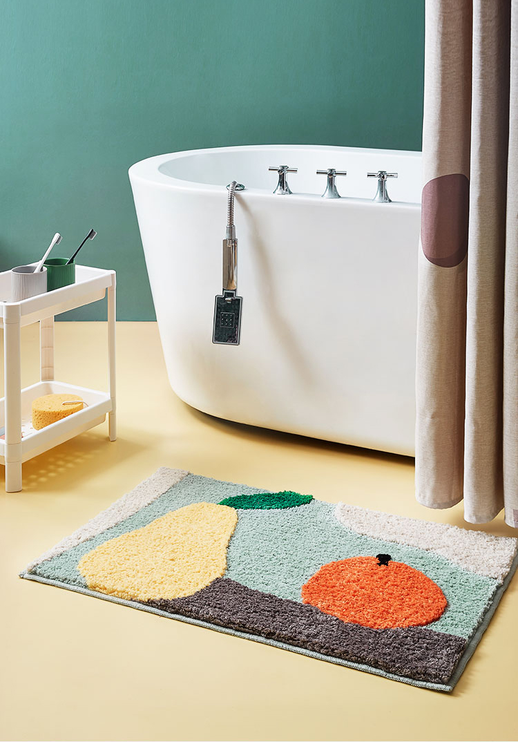 Washable Fruits Bathroom Rug