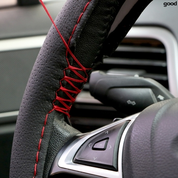 DIY Car Steering Wheel Cover With Needles and Thread For BMW E46 X5 E53 E34 E30 F20 m Mercedes W203 W211 Volvo XC60 XC90 image