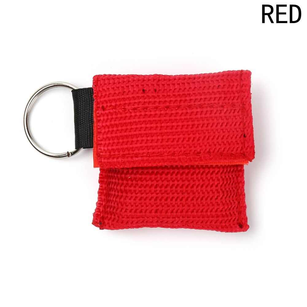 Portable Mask Keychain Safty Emergency Face Shield First Aid Rescue Bag