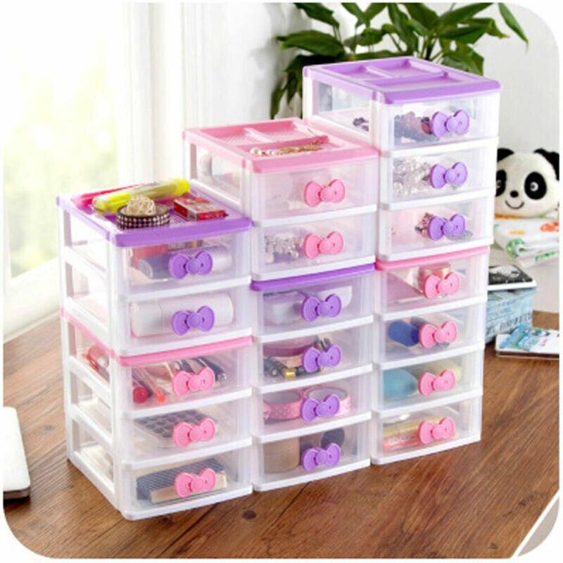Boxs Organizer Drawer Cute Jewelry-Case Desk Headdress Desktop-Storage Plastic Mini Multi-Layer