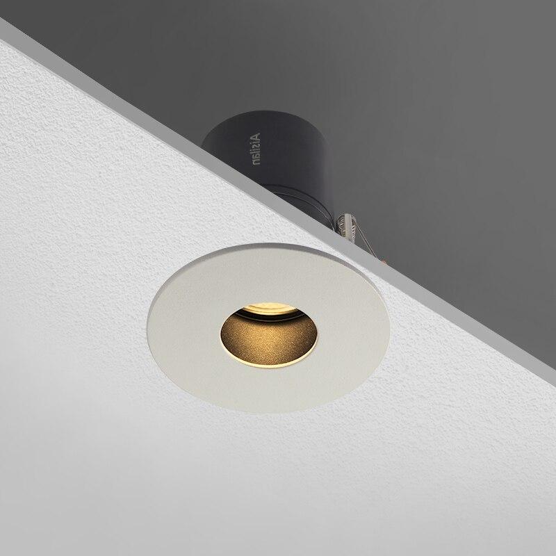 Aisilan светодиодный встраиваемый Точечный светильник без бликов светильник для спальни круглый или квадратный белый Светодиодный точечный п...