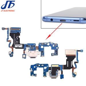 Image 1 - 10 adet/grup Samsung Galaxy S9 G960F g960u S9 + artı G965F g965u USB şarj şarj portu dock konektör esnek kablo değiştirme