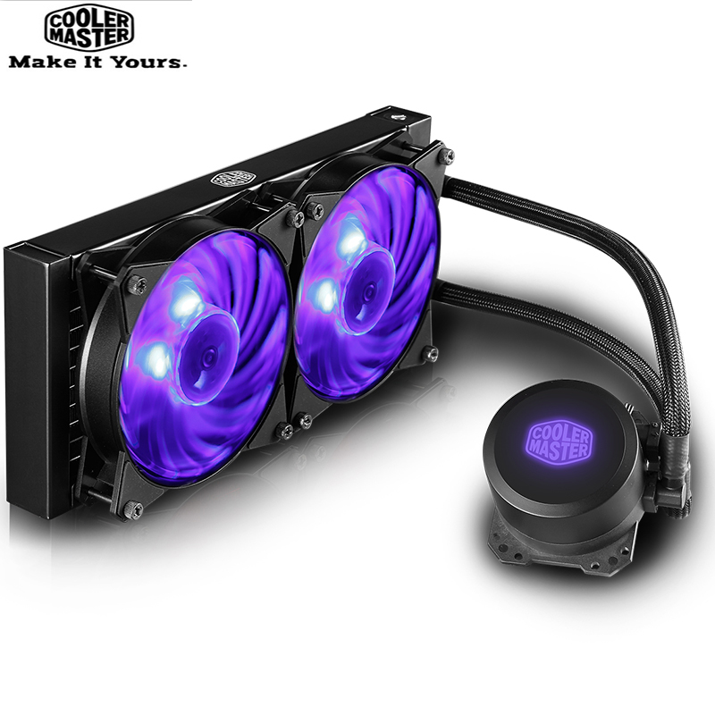 Cooler Master B120 B240 <font><b>CPU</b></font> Water Cooler 120mm RGB Quiet Fan For Intel 1151 1155 1156 2011 2066 <font><b>AMD</b></font> AM4 <font><b>AM3</b></font> <font><b>CPU</b></font> Liquid cooling image
