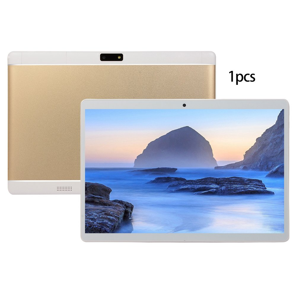 V10 Classic Tablet 10.1 Inch HD Large Screen Android 8.10 Version Fashion Portable Tablet 6G+64G Gold Tablet Gold US Plug