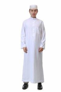 Image 5 - Islamic Clothing Men Length Long Sleeve Loose Muslim Men Saudi Arabia Pakistan Kurta Muslim Costumes Muslim dress Kaftan Thobe