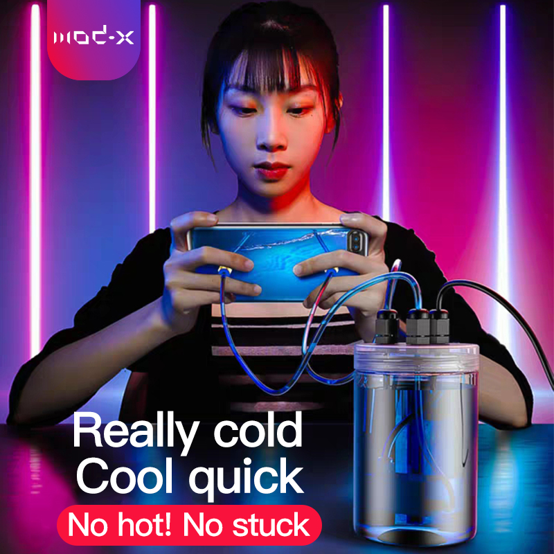 MOD-X Water Pump Mobile Phone Cooler For Huawei Xiaomi Sumsung IPhone X Xr 11 LG Phone Smartphone Cooling Case Fone Gamer Cooler