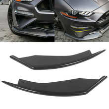 Front Side Spoiler Splitter Wind Knife Turning Signal Mounting Fit for Ford Mustang 2018 2019 2020