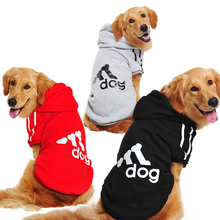 3XL-9XL Pet Cartoon Dog Costumes Clothes Cotton Hoodies Jacket Winter Large Sweaters Clothing Sports T Shirt