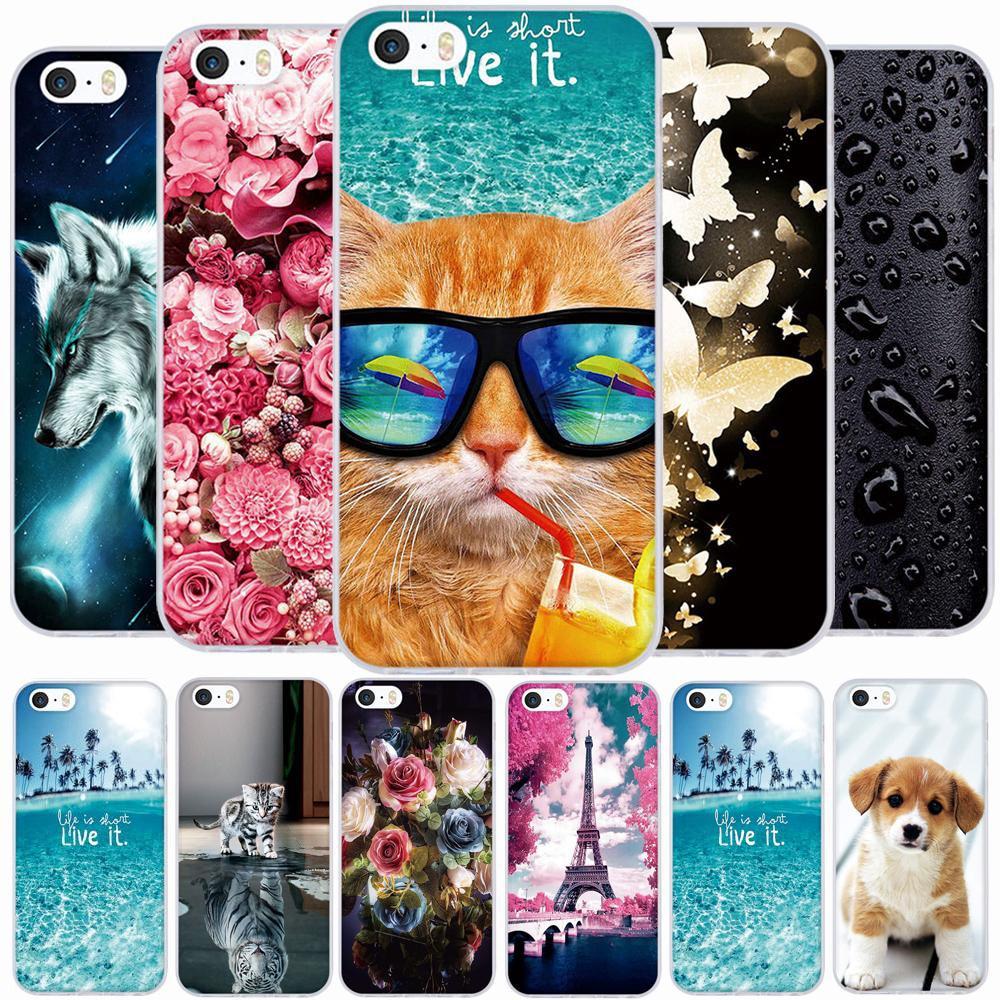For iPhone 5 Case Cute TPU iphone 6 6s դեպքում iphone 5 5s - Բջջային հեռախոսի պարագաներ և պահեստամասեր - Լուսանկար 1