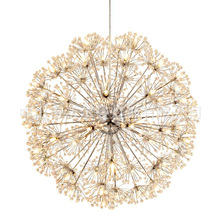 Nordic Modern Circular Dandelion Crystal Ball Chandelier Creative LED Living Room Restaurant Bar Lamps Dining Lights