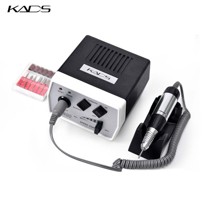 Image 2 - KADS 30000RPM Black nail art drill Nail Equipment Manicure Tools Pedicure Acrylics Grey Electric Nail Art Drill Pen Machine Set-in Electric Manicure Drills from Beauty & Health